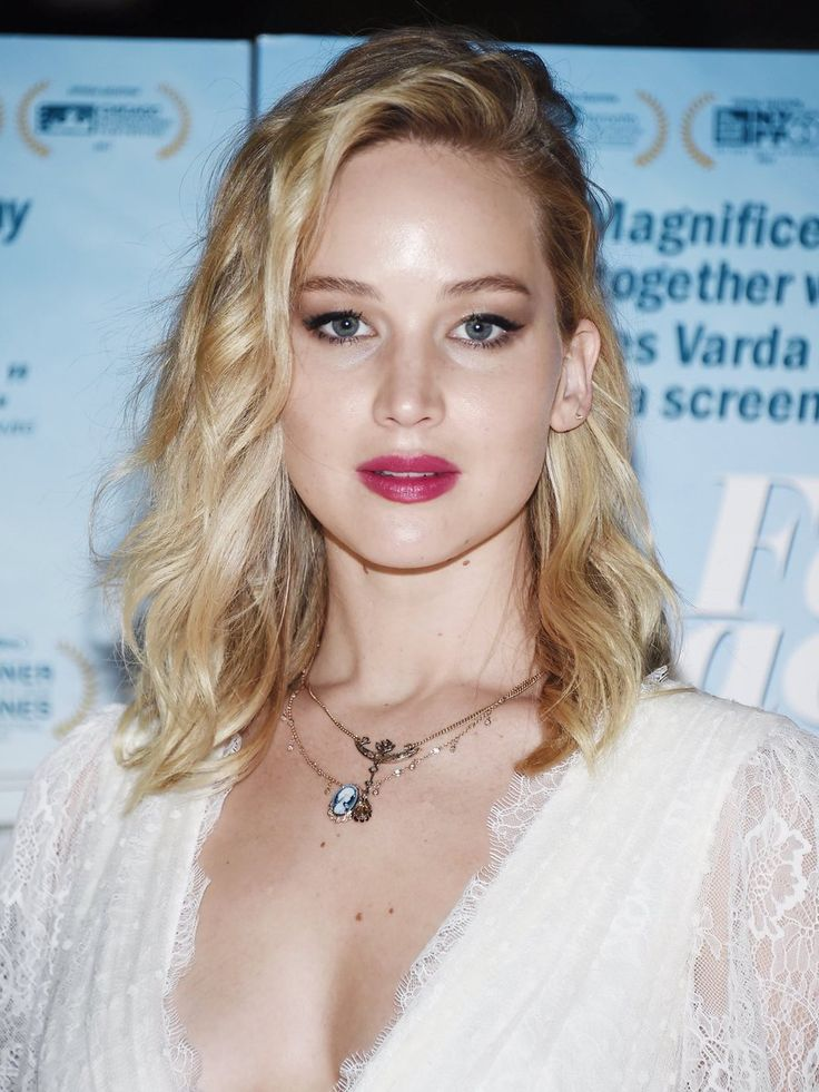 Jennifer Lawrence attending the 'Faces Places' premiere in Los Angeles.
