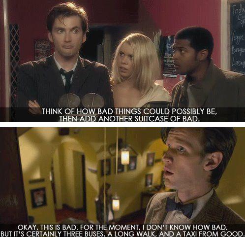 Degrees of Bad. #DoctorWho: Nerd, Stuff, The Doctors, Doctorwho, Doctors Who, Three Buses, Tardis, Fandoms, Long Walks