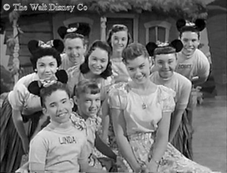 The Lennon Sisters and Mickey's Clubhouse members October 1957.