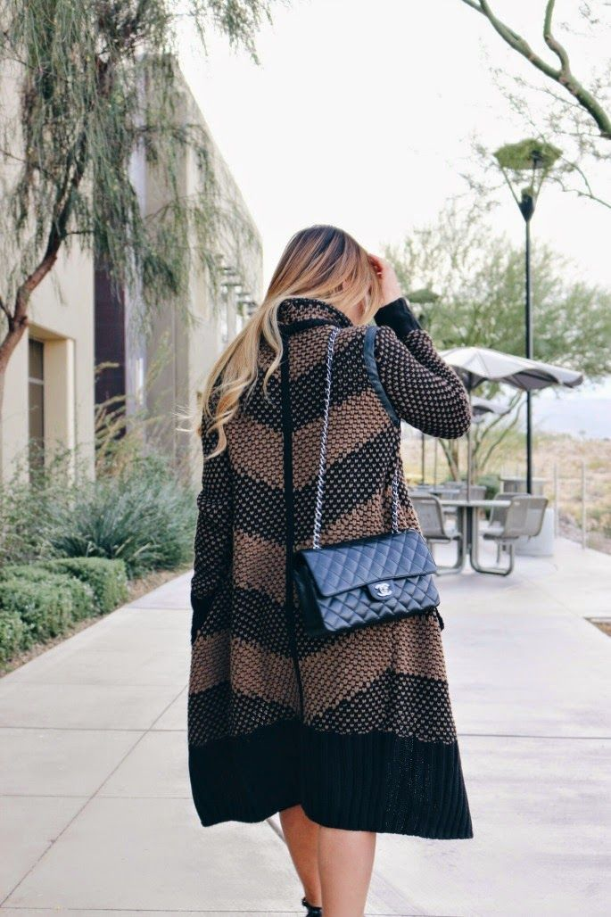We love our long statement cardigan on beautiful  blogger LV - Haus Of Color!