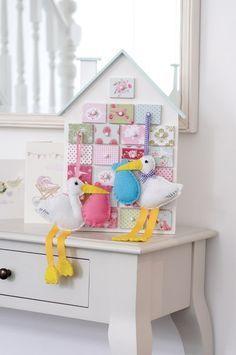 Molde para Hacer Cigueñas de Fieltro para Baby Shower Gratis (9)