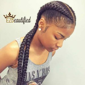 Two Cornrow Boxer Braids