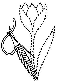 Double back stitch - ANNE WANNER'S Textiles in History / vocabulary 2