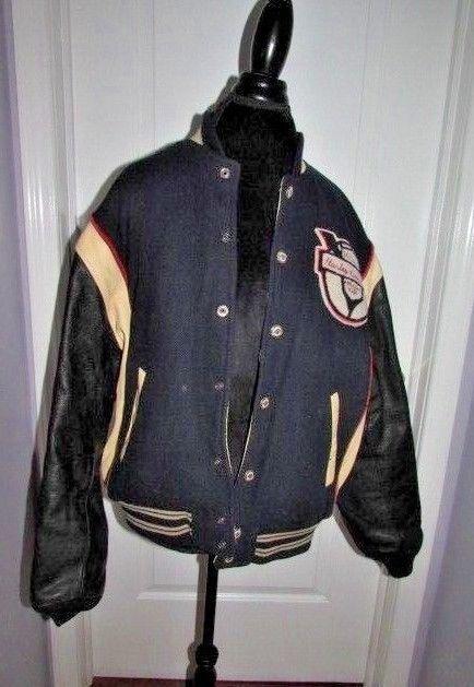 Harley-Davidson Motorcycles 50 Years Embroidered Leather & Wool Bomber Jacket L #harleydavidson #motorcycles #jacket #vintage #leatherjacket #leatherwool #50yearsjacket #bomberjacket #dandeepop Find me at dandeepop.com