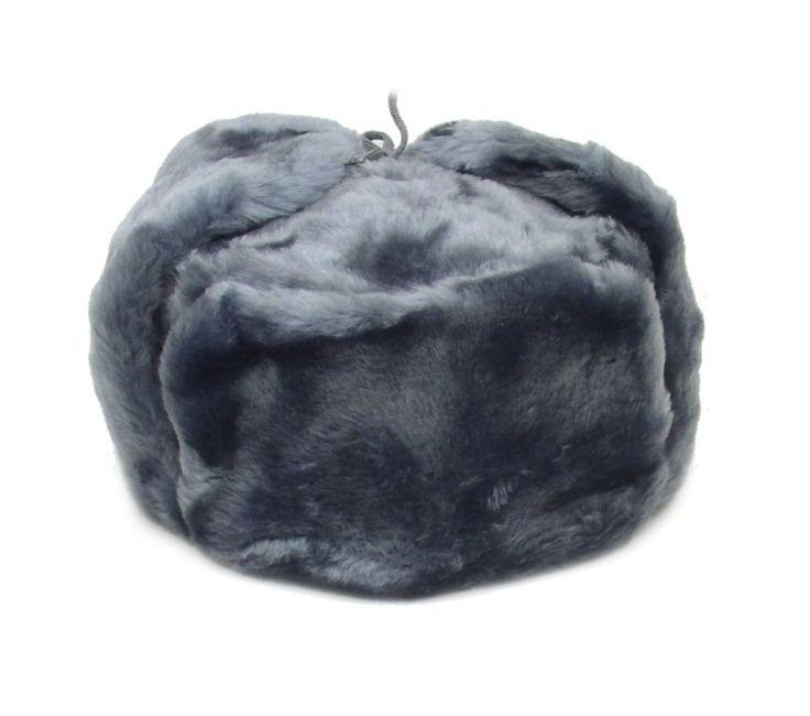 Ushanka Russian Winter Hat Size Xxl (Metric 62) Gray
