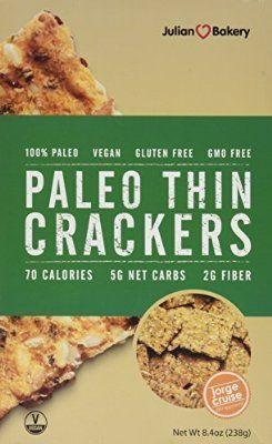 Julian Bakery Paleo Thin Crackers - 8.4 oz  low carb , non gmo full of nuts