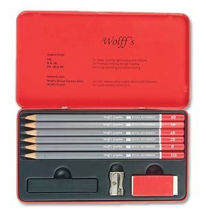 Wolff's Graphite Pencil Sketching Tin - pencils with a great reputation and good value too