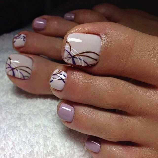 Best 25 toenails ideas on pinterest pedicure designs wedding toe nail design polish pink pedicure lines prinsesfo Choice Image