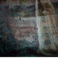 Thylacine (tasmanian tiger), Ubirr Rock