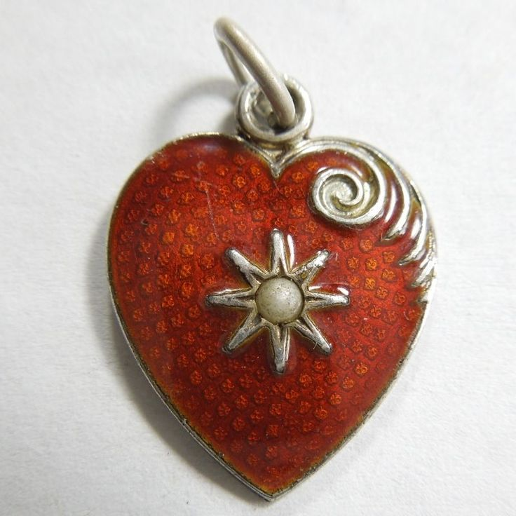Victorian Guilloche Heart with Seed Pearl from the-big-o on Ruby Lane