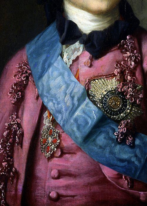 Grand Duke Paul (later the Emperor Paul I) by Vigillius Eriksen, 1764 (detail)