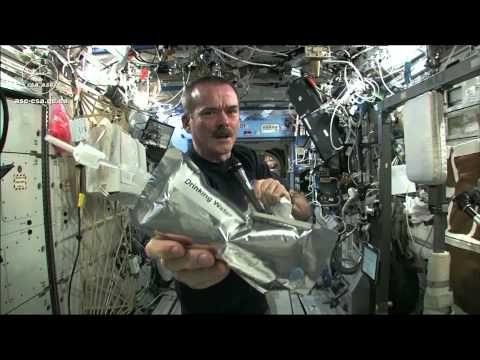 Wringing out Water on the ISS - for Science! by  canadianspaceagency/NASA #Science #Surface_Tension #Space