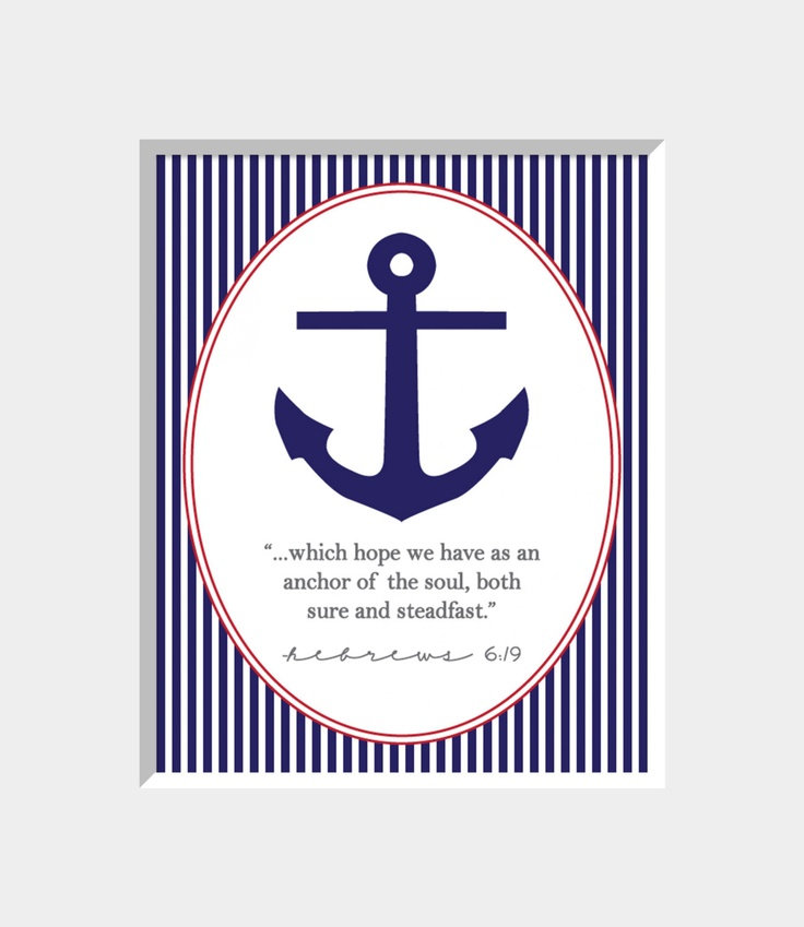 Anchor U0026 Bible Verse Digital Print By Breezyandco On Etsy