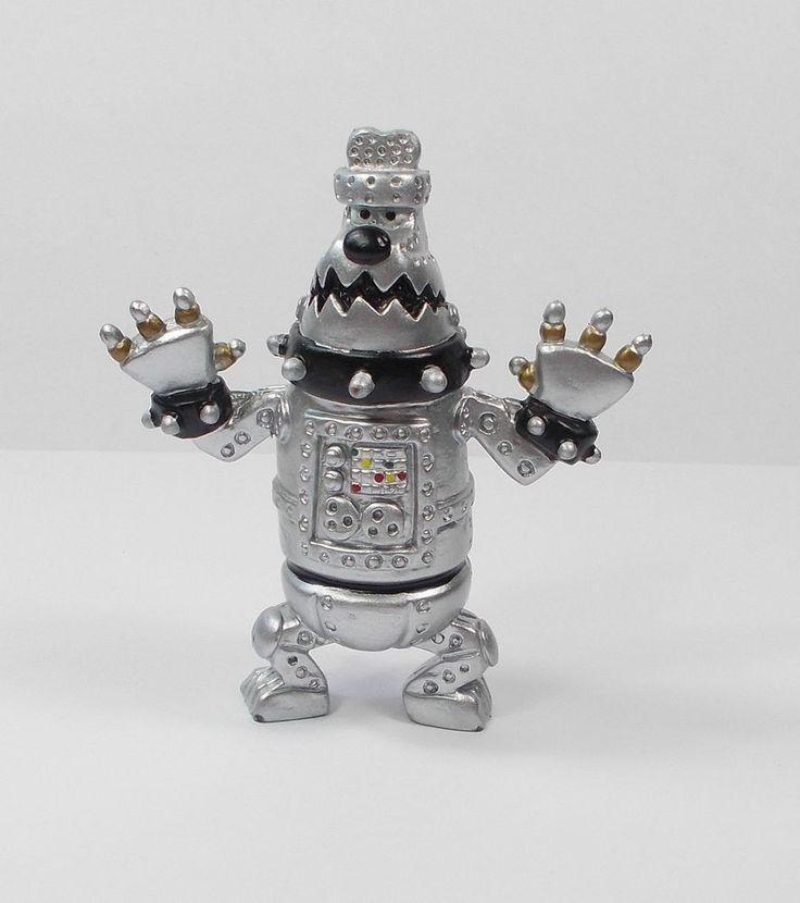 Wallace & Gromit - Robot Preston - Mini Toy Figure - Aardman 1989 - Cake Topper