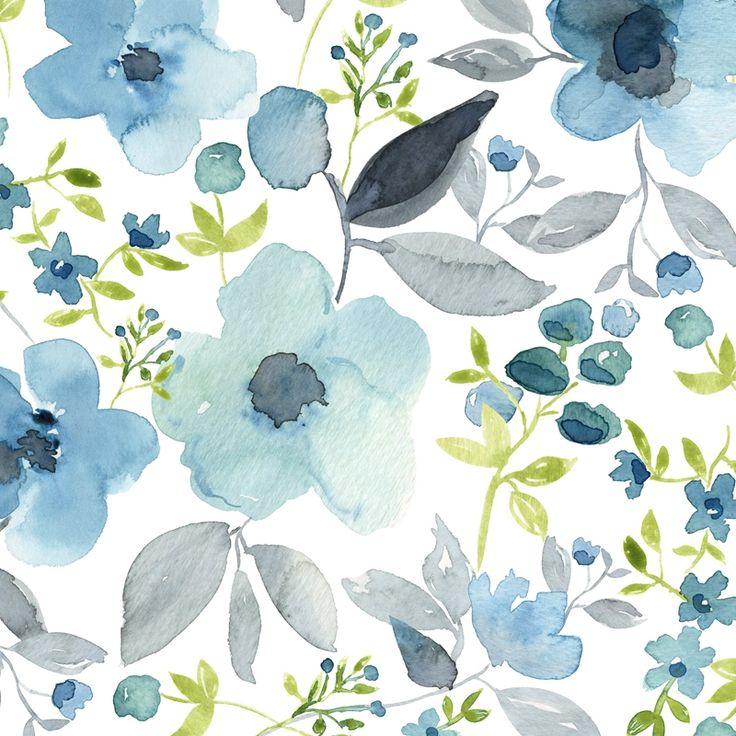 Watercolour floral print by Julie Harrison.