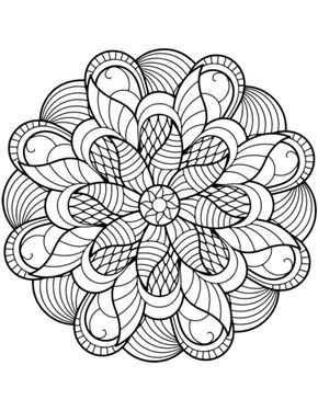 Flower Mandala Coloring page | coloring pictures | Pinterest ...