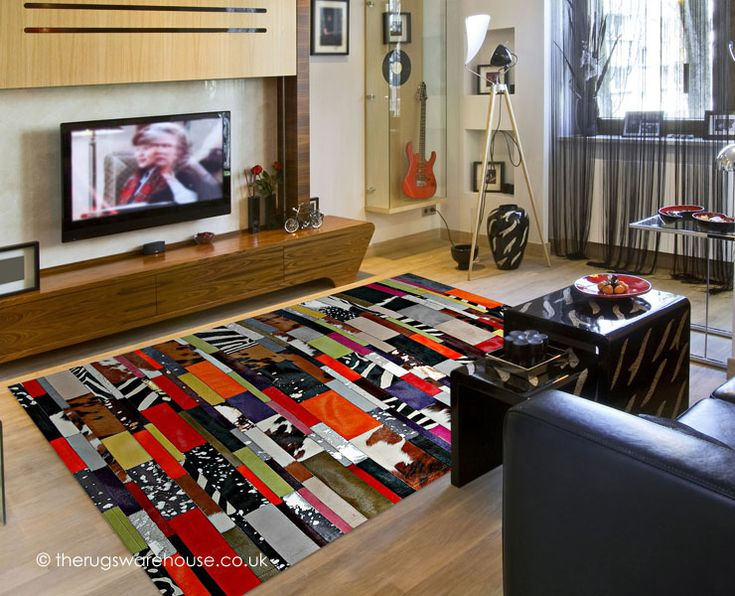 Aruba Rug, a multi-coloured and textured leather rug with a patchwork design (handmade in Spain) http://www.therugswarehouse.co.uk/patchwork-rugs/aruba-rug.html #rugs #leatherrugs