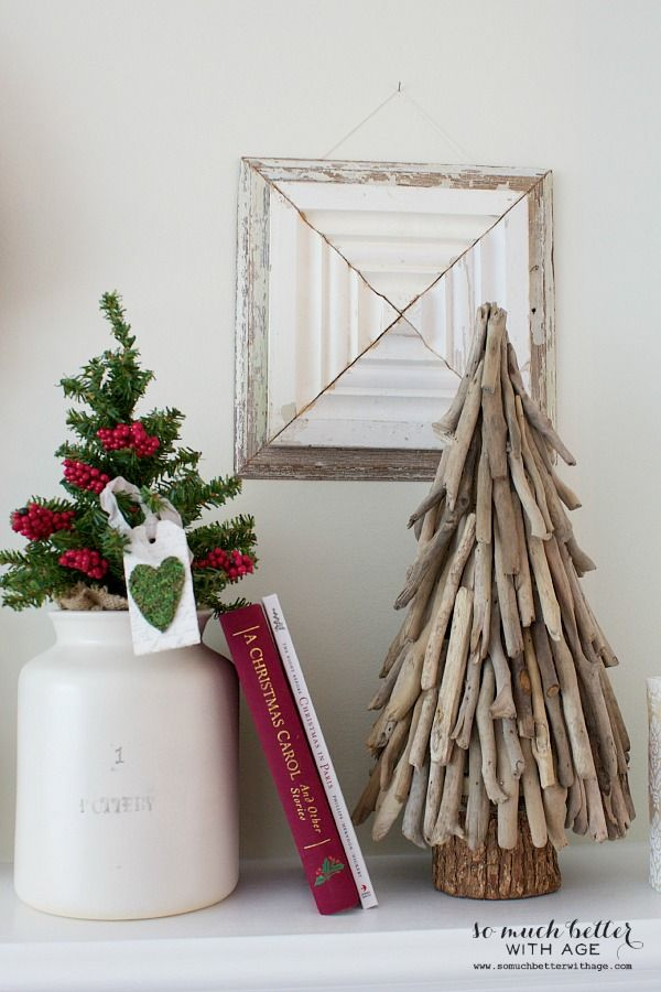 17 best ideas about driftwood christmas tree on pinterest for Twig decorations home