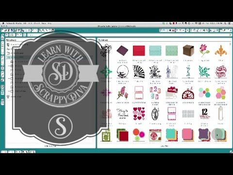 Silhouette Cameo tutorials for beginners Centering one shape inside another, creating a basic shape with a slit and with a tab, welding text and shapes insid...