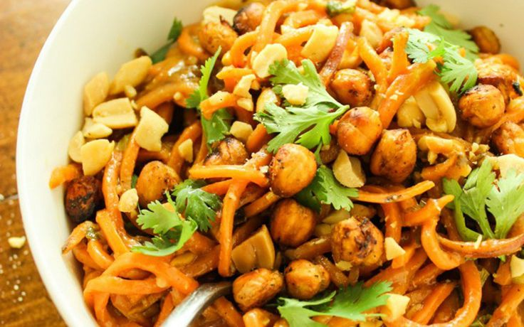 Thai Peanut Sweet Potato Noodles [Vegan, Gluten-Free] | One Green Planet