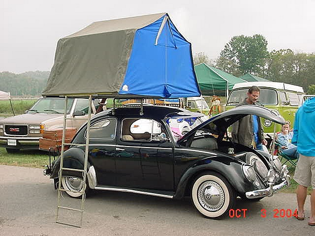 Gotta get one of those tents!: Campers U2665, Vw Bugs, Classic Bugs, Tops Tent, Classic Vw S, Roof Tops, Ws, Vw Cars, Bugs Campers