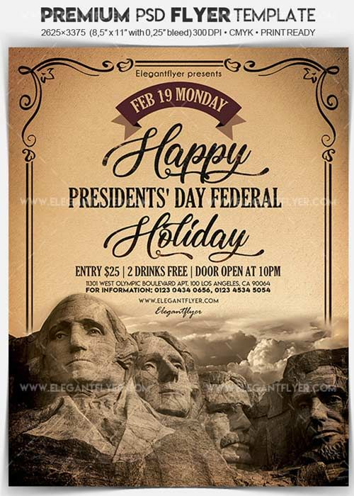 President-s Day Federal Holiday V1 Flyer PSD Template  Facebook Cover Free Download http://ift.tt/2DC2OiE