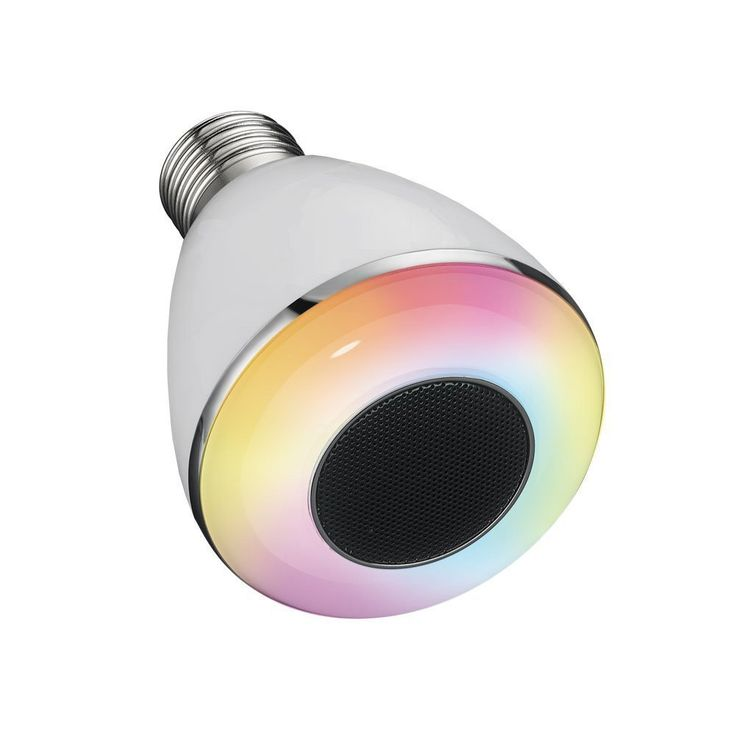 Bluetooth Smart RGBW LED Light Bulb, Music Speaker Night Light, Smartphone Controlled Multicolored Color Changing Lights Works with IPhone, IPad, Android Phone and Tablet for Home Hotel