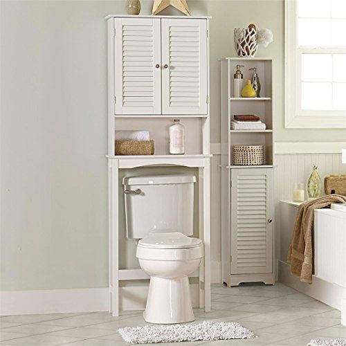 Brylanehome Louvre Etagere  White 0. 78 Best images about Bathroom Furniture Sets on Pinterest