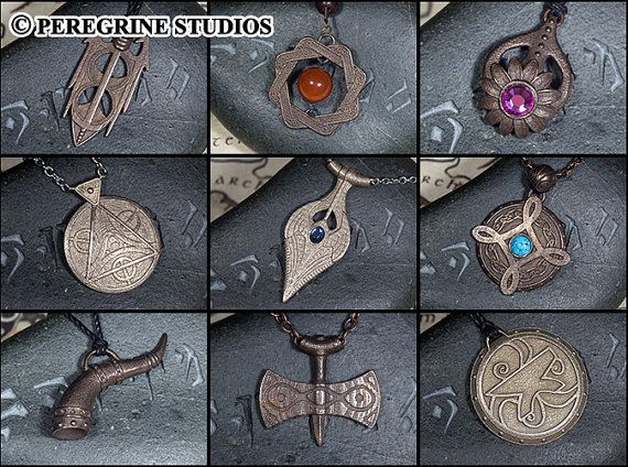 Amulets of the Nine Divines Collection (Stainless Steel) Elder Scrolls Skyrim on Etsy, $399.99