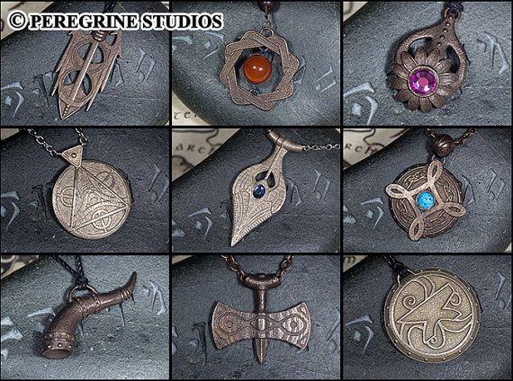 Amuletos de la colección de nueve divinos (acero inoxidable)