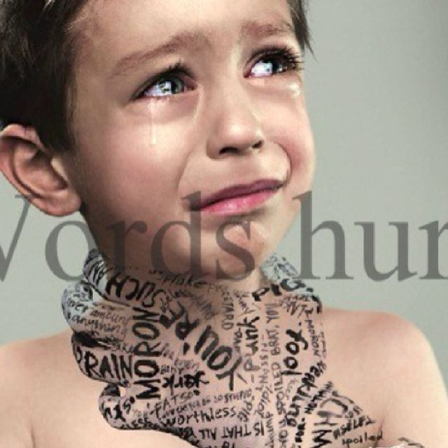 Bullying - words hurt!