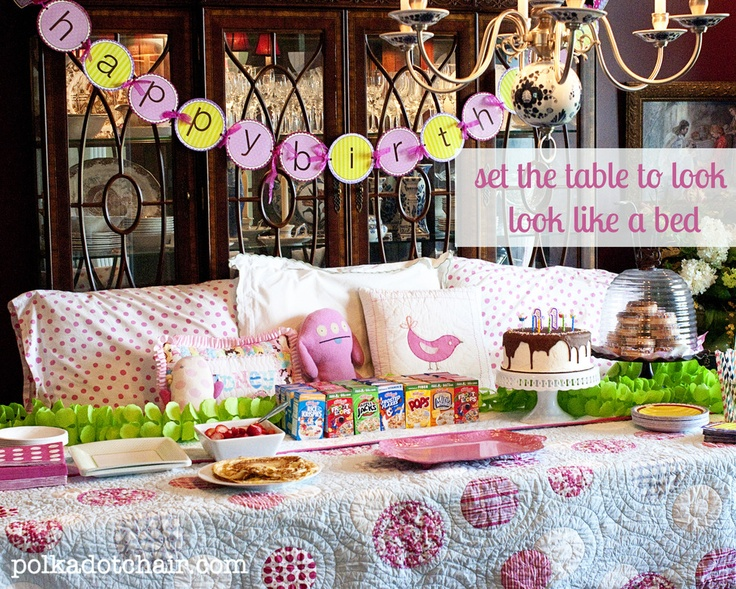 """The Polkadot Chair: Simple """"un"""" Slumber Party - neat idea, like a sleepover without actually spending the night"""
