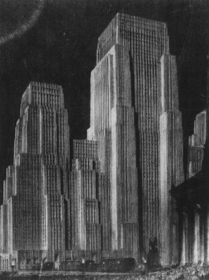 Architectural Drawings Of Skyscrapers 131 best never built art-deco skyscrapers images on pinterest