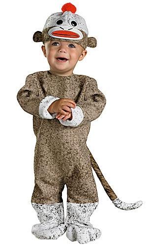 Infant Sock Monkey Costume - Toddler Monkey Halloween Costumes