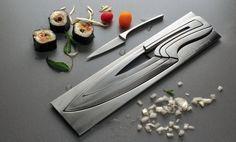 Deglon Stainless Steel Nesting Knives with Knife Block