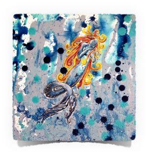 Mermaid: Acrylics on Canvas @The Art of Creativity Studio