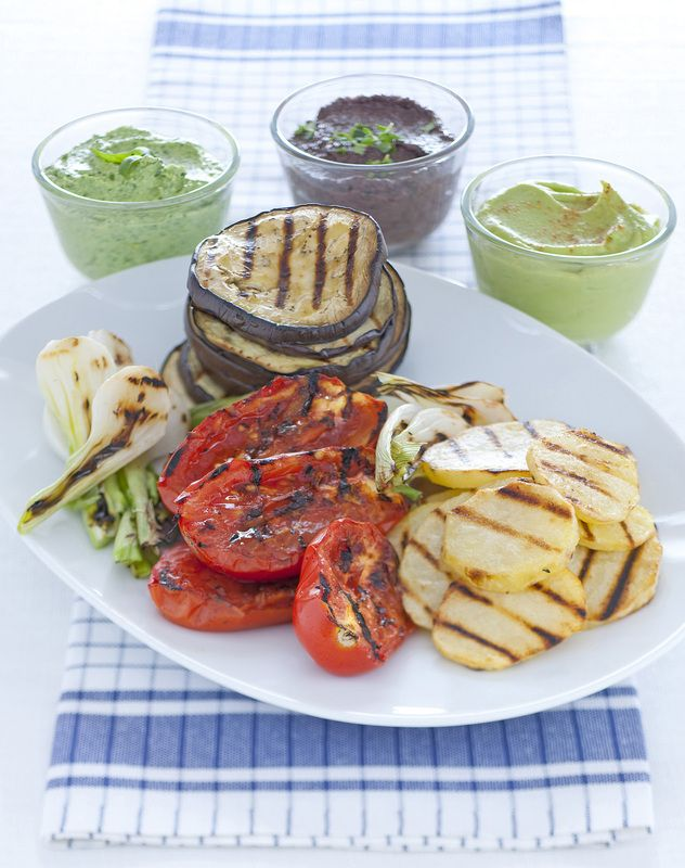 Verdure grigliate con salse