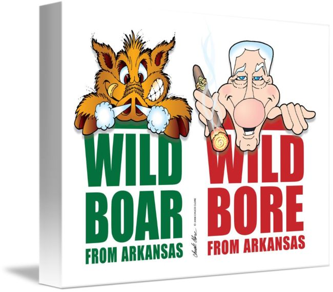 """""""Wild+Boar+from+Arkansas++Clinton""""+by+Chuck+Clore,+Springfield,+MO+//+Wild+Bill+Clinton+is+giving+the+Arkansas+State+Mascot+a+run+for+his+money.+SooooooWeeeeee!+Razorbacks!+//+Imagekind.com+--+Buy+stunning+fine+art+prints,+framed+prints+and+canvas+prints+directly+from+independent+working+artists+and+photographers."""
