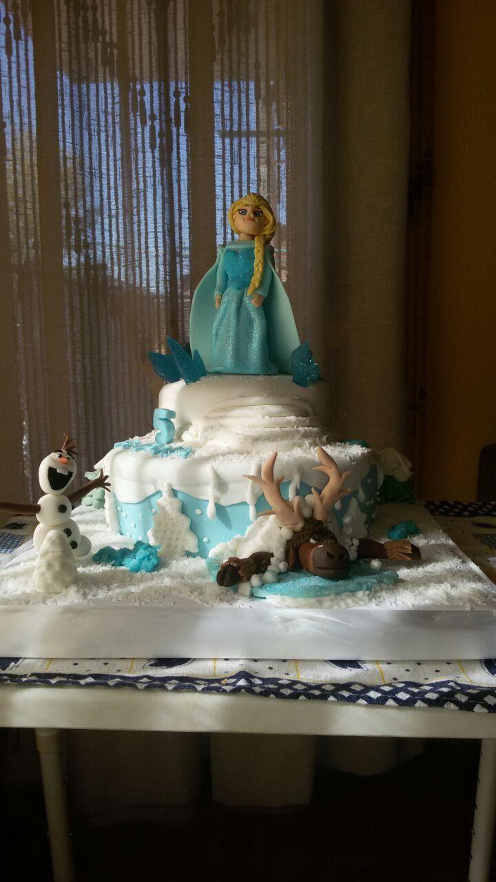 tarta fondant Frozen