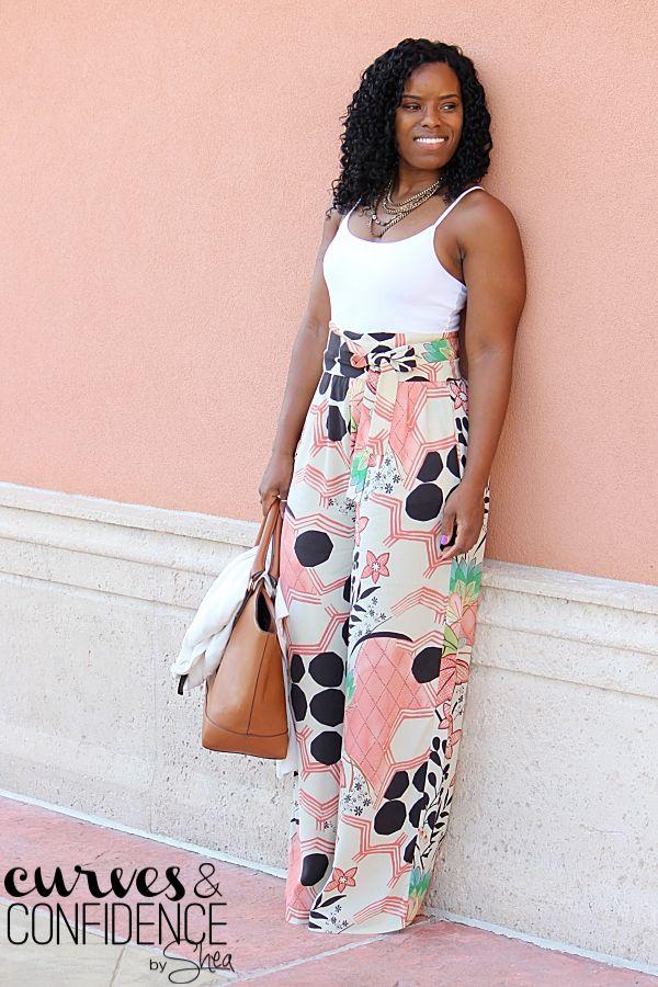 Zara Wide-Leg Floral Pants