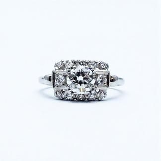 Art Deco Diamond Cluster Ring.