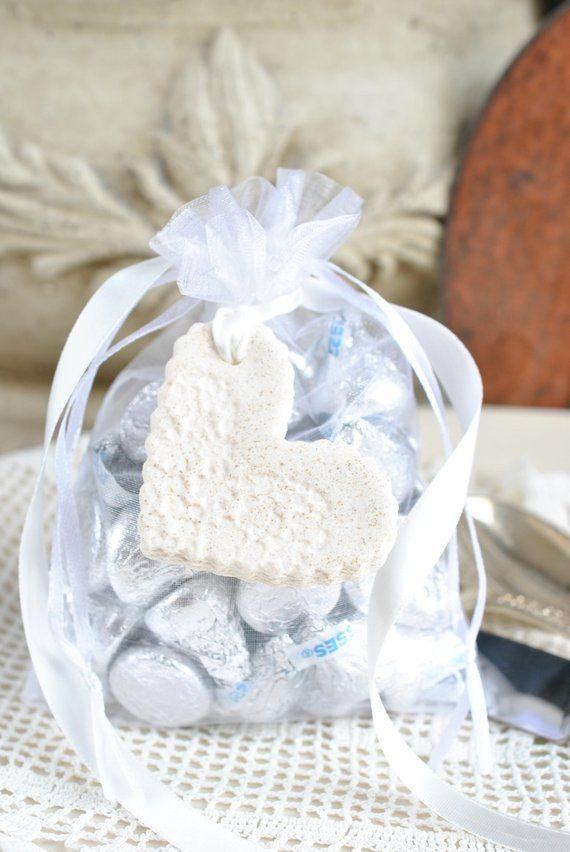 d00346d91 Bridal Shower   Wedding Favors Mini Imprinted Salt Dough Heart ...