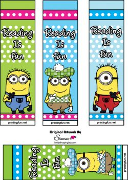 FREE printable book marks - Great for a Party bag filler