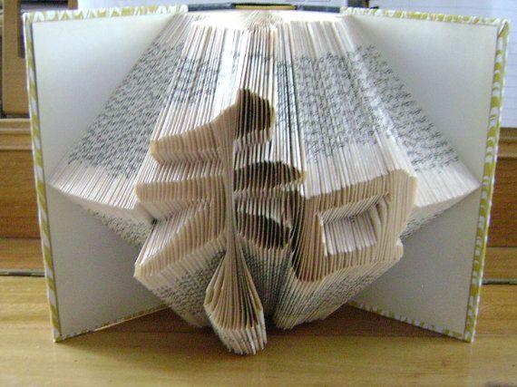 Folded Book Art Wa Or Harmony Japanese Word Wa Recycled