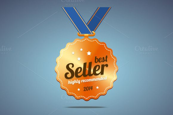 Best seller award medal by zaniman on Creative Market