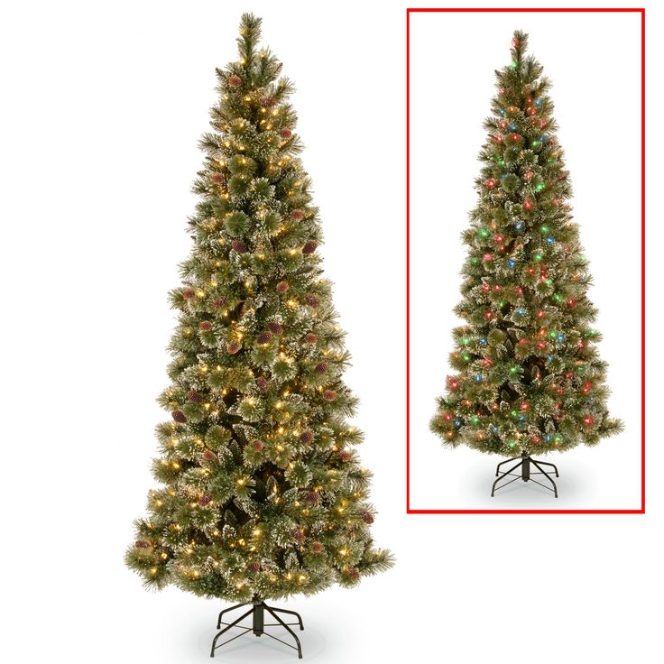 6.5-foot PowerConnect Dual-color LED Light Slim Glittering Pine Tree