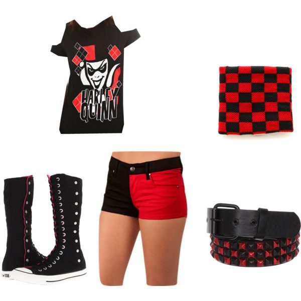 Harley quinn outfit #1 by swaggwweforever on Polyvore featuring polyvore fashion style and ...