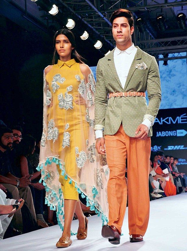 Frou Frou by Archana Rao touched a gentle note with diaphanous capes, saris and dainty tul...