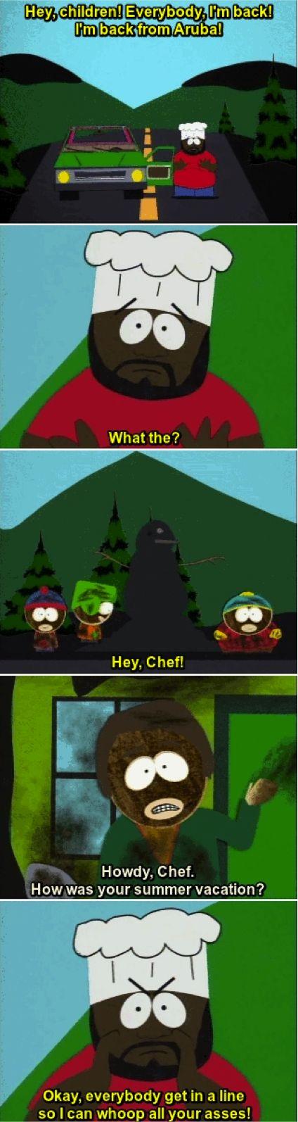 Chef snow melts South Park