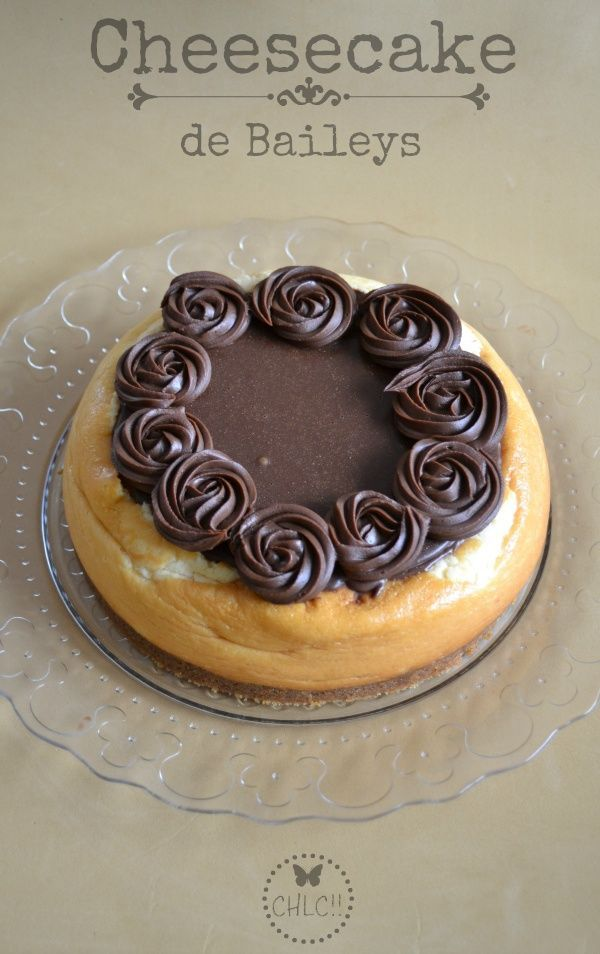 Tarta de queso de Baileys y chocolate